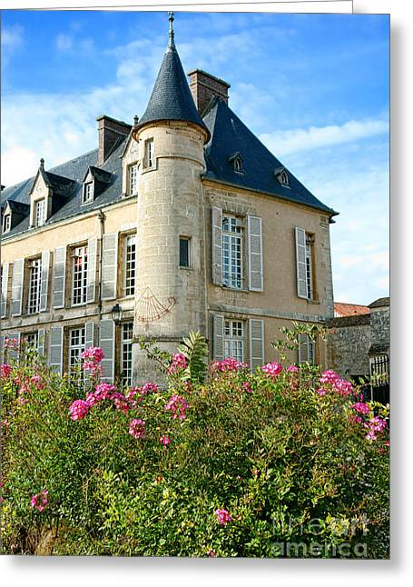 Rosaceae Greeting Cards - Roses at the Castle Greeting Card by Olivier Le Queinec