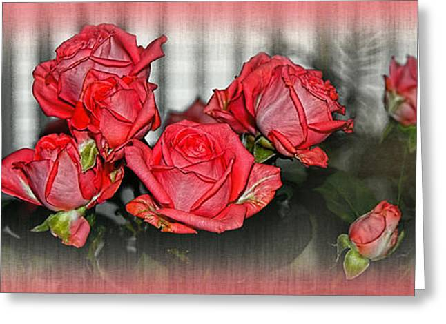 Bouquet Of Roses Greeting Cards - Roses by the Window by Kaye Menner Greeting Card by Kaye Menner