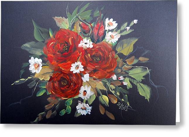 Roses Greeting Card by Dorothy Maier