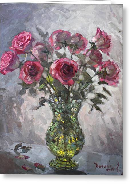 Bouquet Of Roses Greeting Cards - Roses for Viola 2 Greeting Card by Ylli Haruni