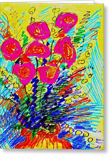 Earthtone Colored Art Greeting Cards - Roses For You Greeting Card by Bill Solley