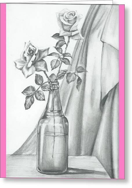 Roses Greeting Card by Gayatri Ketharaman