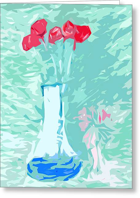 Miami Pastels Greeting Cards - Roses Greeting Card by Lynne Fields