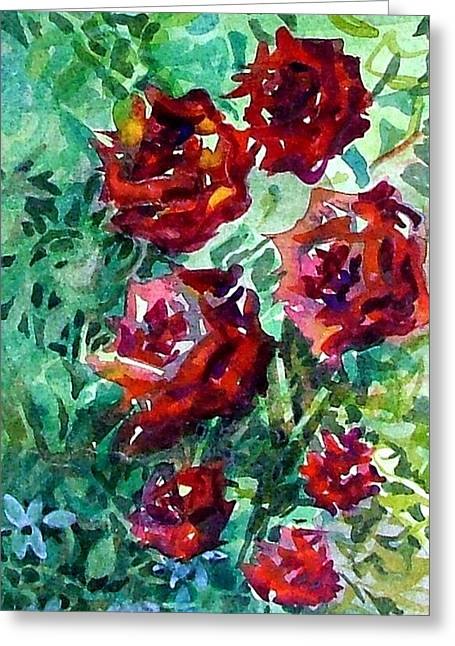 Mystic Drawings Greeting Cards - Roses Greeting Card by Mindy Newman