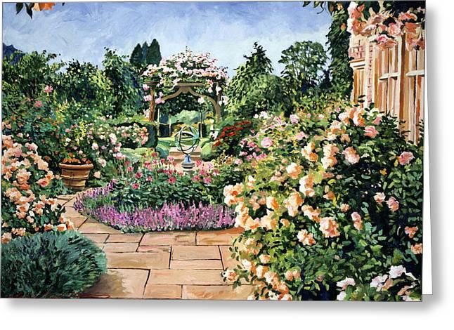 Roses Orange Greeting Card by David Lloyd Glover