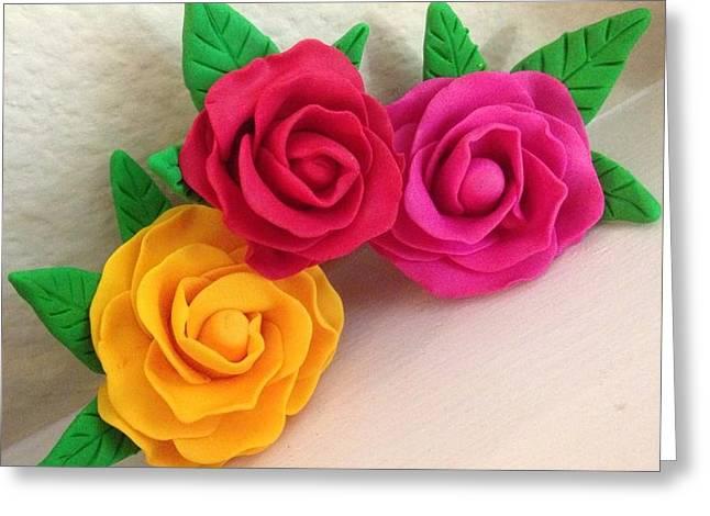Bedroom Art Ceramics Greeting Cards - Roses Greeting Card by Swathi Pavan