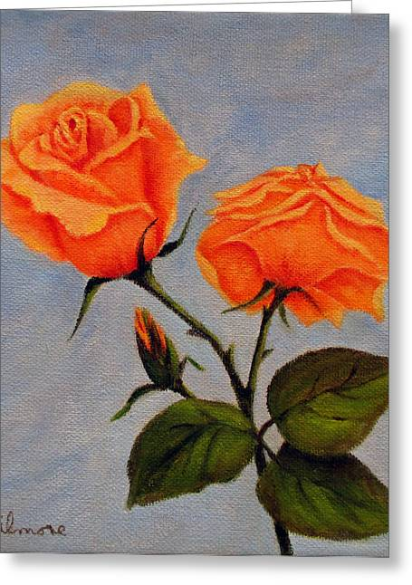 Roses In Bud Greeting Cards - Roses with bud Greeting Card by Roseann Gilmore