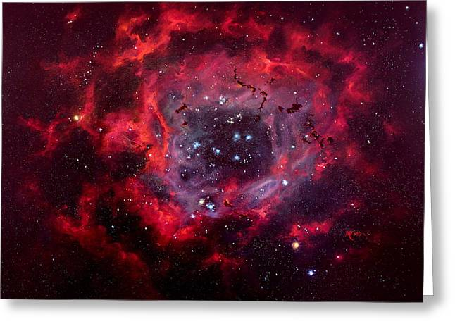 Rosetta Nebula Greeting Card by Marie Green
