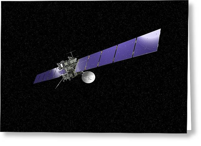 Rosetta Spacecraft Greeting Card by European Space Agency,j. Huart