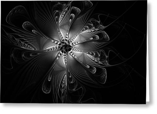 Floral Digital Art Digital Art Greeting Cards - Rosette Greeting Card by Amanda Moore