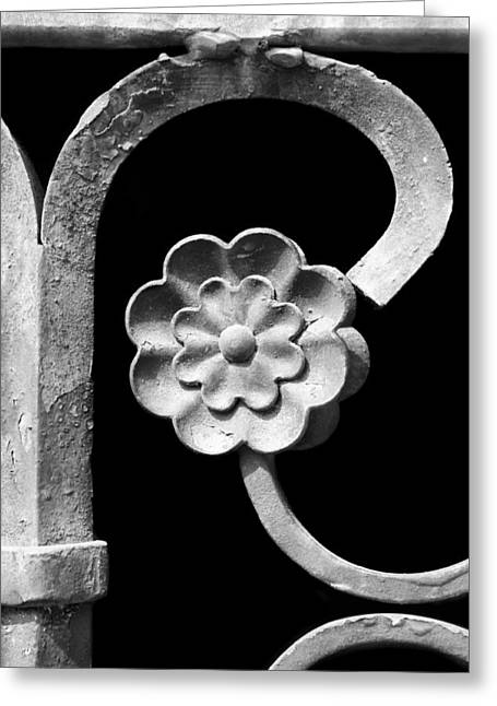 Grate Greeting Cards - Rosette - Wrought Iron  Greeting Card by Nikolyn McDonald