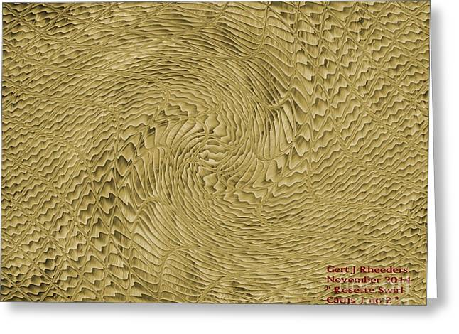 Commercial Photography Paintings Greeting Cards - Rosette Swirl Catus 1 no 2 H Greeting Card by Gert J Rheeders