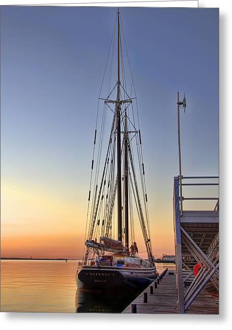 Historic Schooner Greeting Cards - Roseway Greeting Card by Joann Vitali