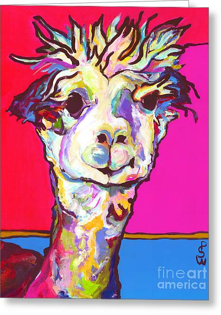 Alpaca Greeting Cards - Rosie Greeting Card by Pat Saunders-White