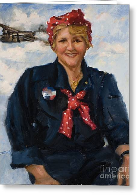 """women In War"" Greeting Cards - Rosies Legacy Greeting Card by Judy Crowe"