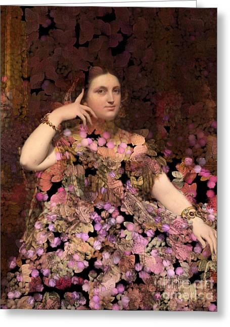 Aimelle Prints Greeting Cards - Rosita - Des femmes et des Fleurs Greeting Card by Aimelle