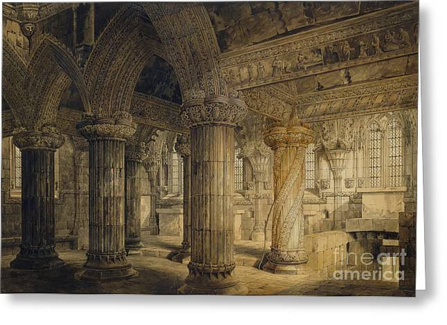 Roslyn Chapel Greeting Card by Joseph Michael Gandy