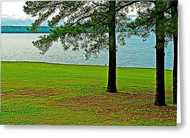 Natchez Trace Parkway Digital Greeting Cards - Ross Barnett Reservoir along Natchez Trace Parkway-Mississippi  Greeting Card by Ruth Hager