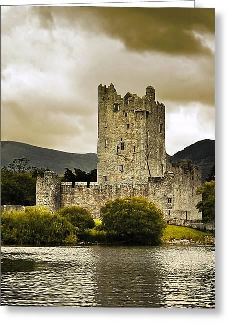 Jane Mcilroy Greeting Cards - Ross Castle Killarney Greeting Card by Jane McIlroy
