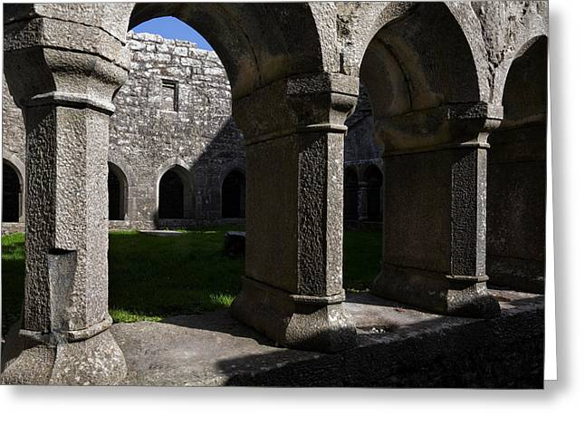 Antiquated Greeting Cards - Ross Errilly Franciscan Friary 1351 Greeting Card by Panoramic Images