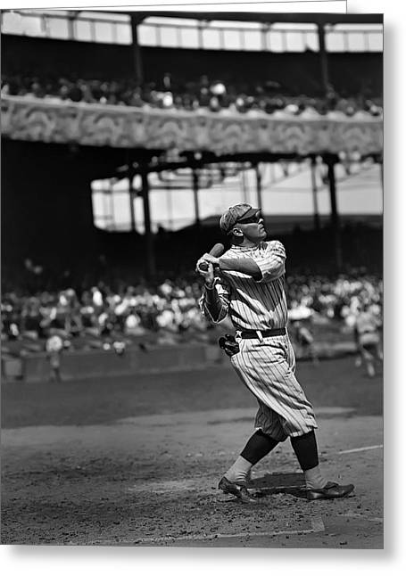 Baseball Game Greeting Cards - Ross M. Youngs Greeting Card by Retro Images Archive