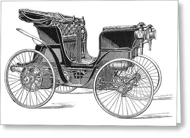 Single Seater Greeting Cards - Rossel petrol car, 1897 Greeting Card by Science Photo Library