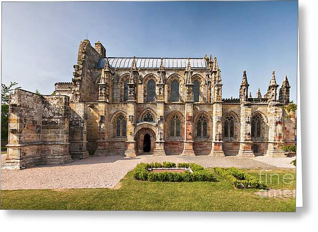 Medieval Temple Greeting Cards - Rosslyn Chapel 01 Greeting Card by Antony McAulay