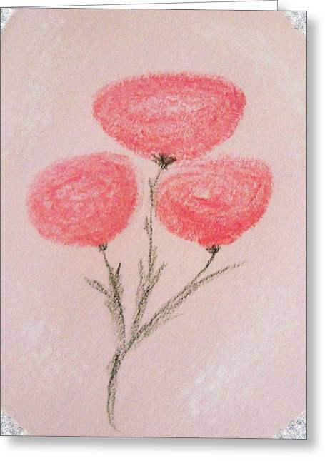 Spring Pastels Greeting Cards - Rosy Ranunculus Greeting Card by Christine Corretti