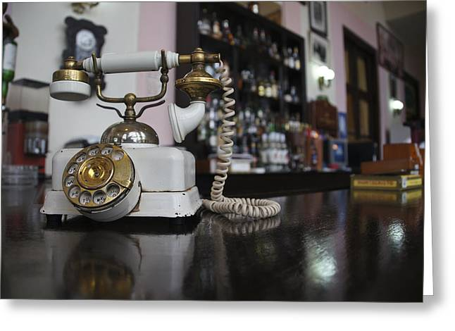 Photography Of Liquor Greeting Cards - Rotary Phone  Greeting Card by Brian Kamprath