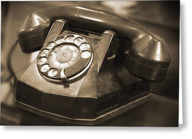 Pearl Necklace Greeting Cards - Rotary Phone Greeting Card by Mike McGlothlen
