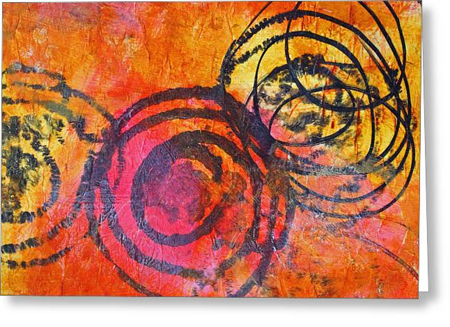 Rotation Abstract Greeting Card by Nancy Merkle