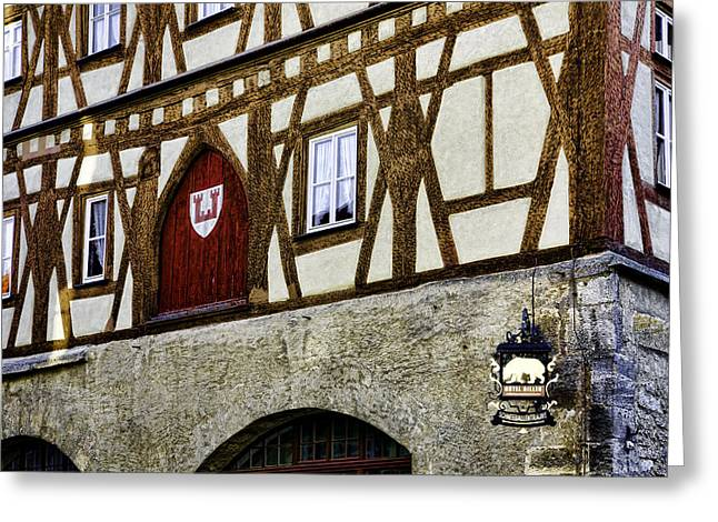Rothenburg Geometry Greeting Card by Joanna Madloch