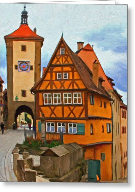 Rothenburg Greeting Card by Michael Pickett
