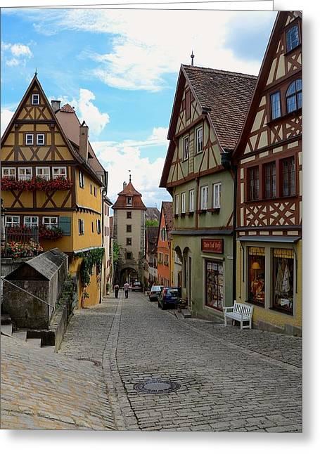 Corinne Rhode Greeting Cards - Rothenburg ob der Tauber Greeting Card by Corinne Rhode