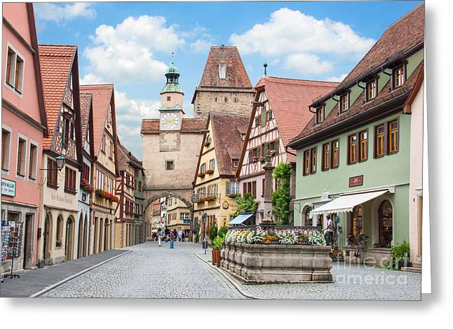 Middle Ages Greeting Cards - Rothenburg ob der Tauber Greeting Card by JR Photography