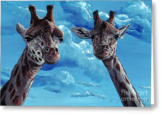 Rothschild Giraffe Greeting Card by Tom Blodgett Jr