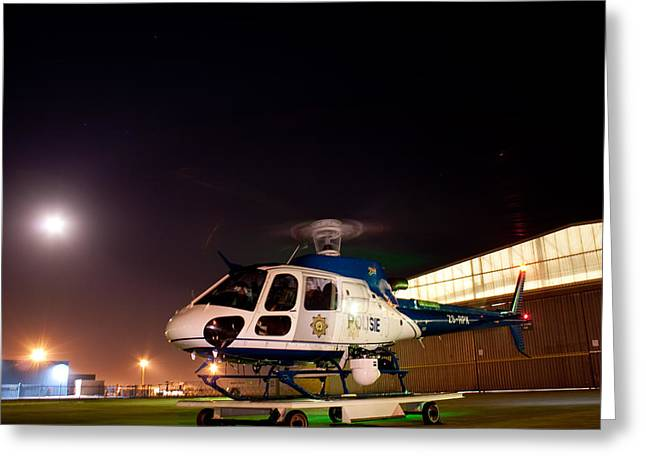Police Art Greeting Cards - Rotor Greeting Card by Paul Job
