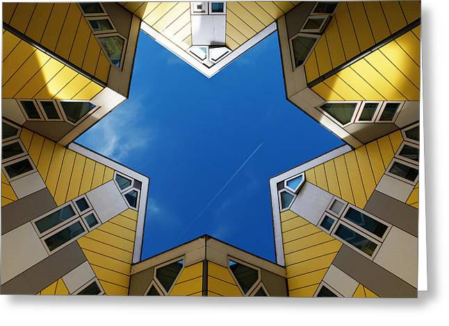 Rooftop Photographs Greeting Cards - Rotterdam Kubuswoningen Greeting Card by Nina Papiorek