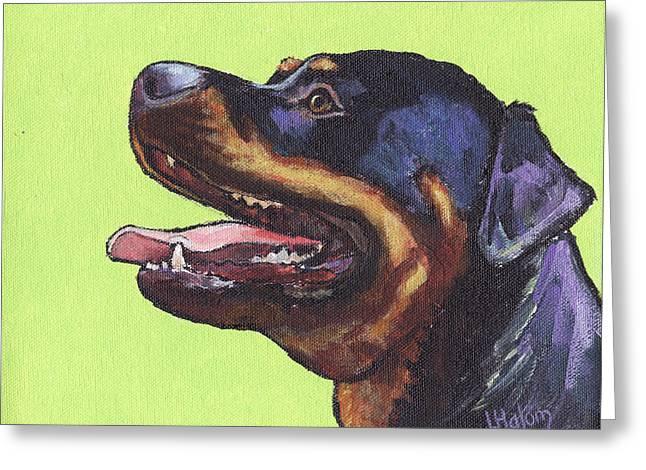 Rottweiler Greeting Cards - Rottweiler Greeting Card by  Linda Halom