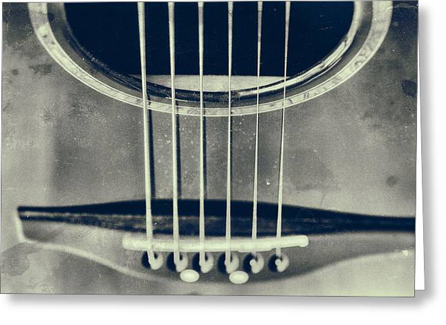 Guitar Body Greeting Cards - Rough Acoustic  Greeting Card by Karol  Livote