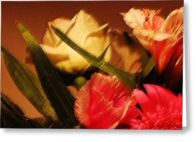 Abstract Digital Greeting Cards - Rough Pastel Flowers - Award-Winning Photograph Greeting Card by Gerlinde Keating - Keating Associates Inc