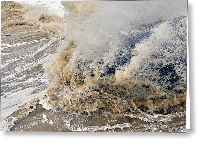 Rough Sea Greeting Card by Barry Goble