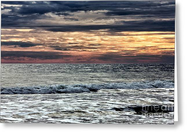 Myrtle Beach Ocean Photography Greeting Cards - Rough Sea Greeting Card by John Rizzuto