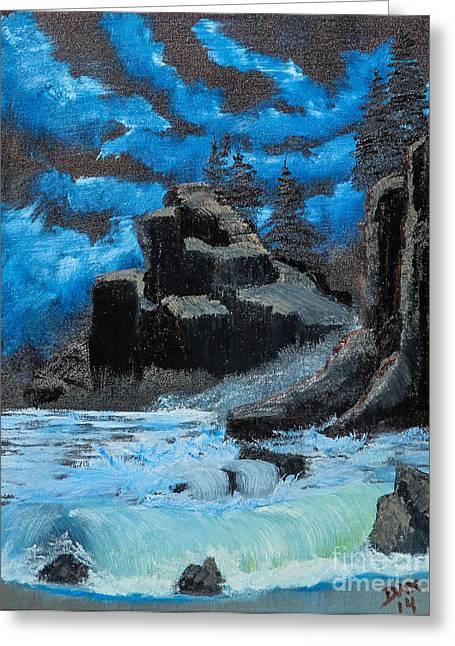 Rough Seas Greeting Card by Dave Atkins