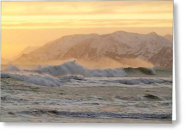 Rough Seas Greeting Card by Tim Grams