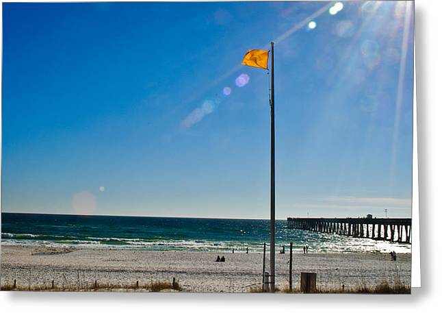 Panama City Beach Greeting Cards - Rough Water Greeting Card by George Taylor