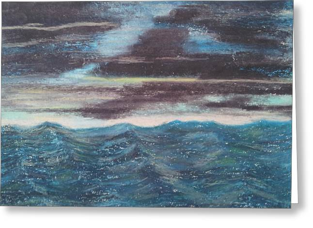 Windy Pastels Greeting Cards - Rough Water Greeting Card by Michael Dancy