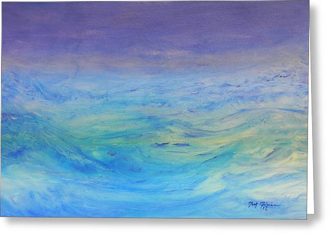 Jonah Paintings Greeting Cards - Rough Waters Greeting Card by Mark Minier
