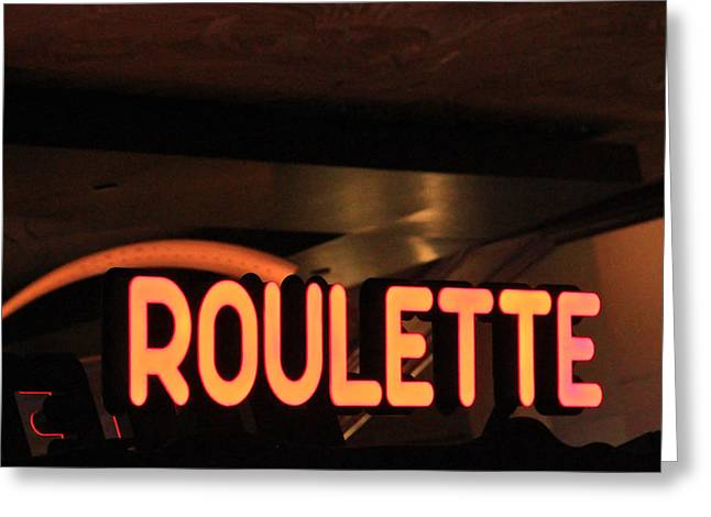 Game 7 Greeting Cards - Roulette Greeting Card by Eti Reid