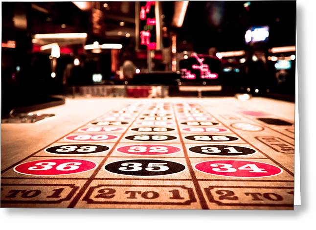Roulettes Greeting Cards - Roulette Table Greeting Card by Anthony Doudt